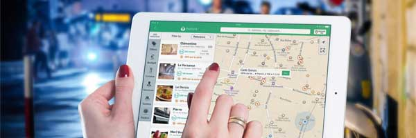 Choosing the Best Restaurant Make your Party Unforgettable tablet map - Choosing the Best Restaurant: Make your Party Unforgettable